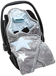 Bemini by Baby Boum 392STARS61SF Biside Einschlagdecke Softy Starky 61, frost
