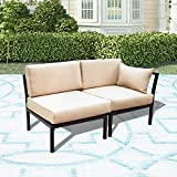 LOKATSE HOME 2 Piece Corner & Armless Sofa Outdoor Furniture...