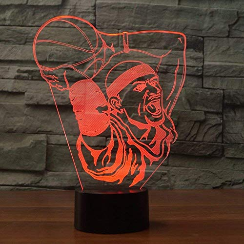 3D Basketball LED Lampe Art Déco Lampe Lumières LED Décoration Lampes Cadeau Veilleuse Touch Control 7 Couleurs Change Alimenté par USB Enfants Cadeau Anniversaire Noël Cadeau