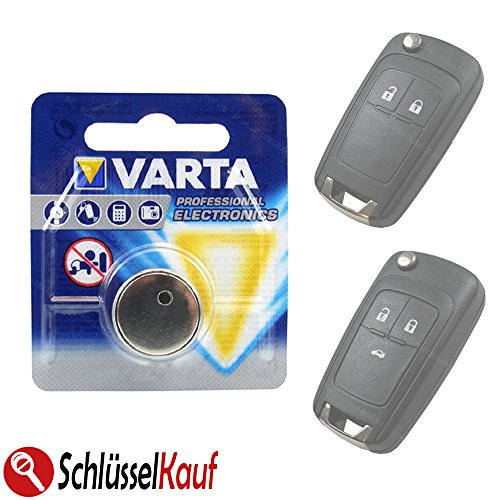 Autoschlüssel Batterie Knopfzelle passend für Opel Astra J Corsa E Insignia Meriva B Vectra