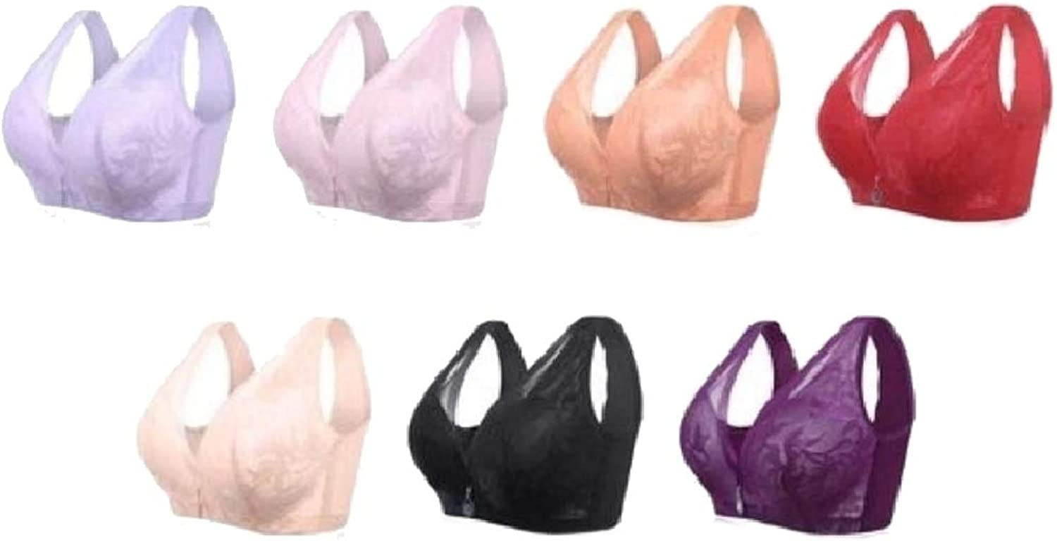 Baseby Women Wirefree Plus Size Multipack Builtup Floral Lace Bras
