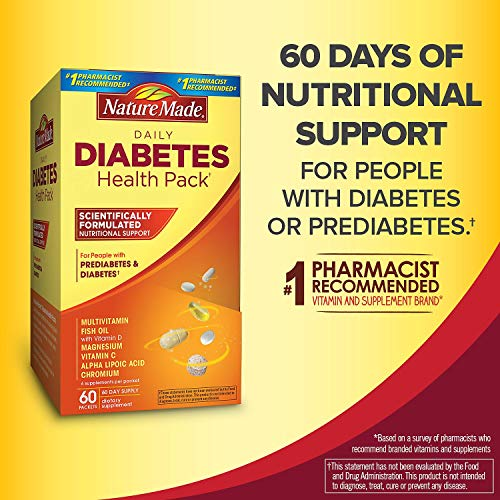 Nature Made® Daily Diabetes Health Pack Dietary Supplement (60 pk.) AS