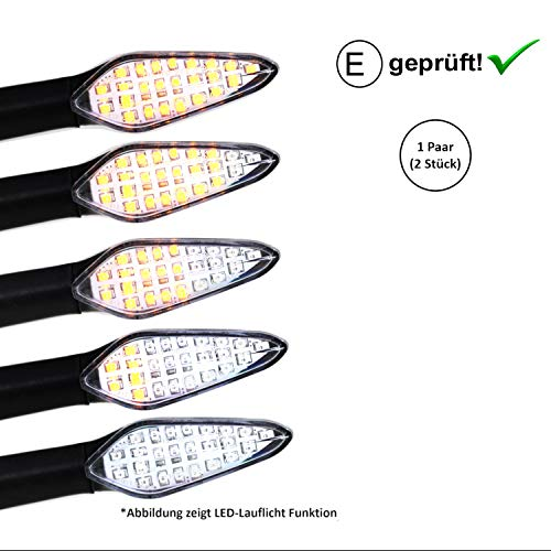 LED Blinker Qingqi, CF-Moto, Herkules, IVA, JMStar Motorroller (E-Geprüft / 2Stück) (B5)