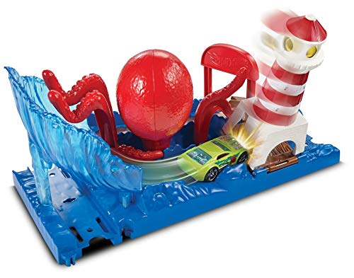 Hot Wheels FNP61 City Krakenangriff Set, Octopus Spielset inkl. 1 Spielzeugauto, ab 4 Jahren