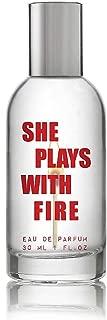 Steve Madden The Factory SHE Plays with FIRE Eau De Parfum Spray 1 oz 30 ml - Charred Marshmallow, Birch Woods & Sparkling Musks
