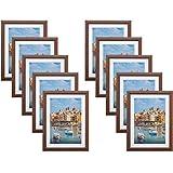 【まとめ買いセット】HAKUBA 木製額縁 10枚セット FW-04 A4 ブラウン AMZFW4-BW10A4