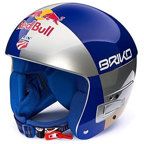 Briko Vulcano FIS 6.8 JR. RED Bull Lindsey Vonn Kinderskihelm Silber/blau/Gold XS