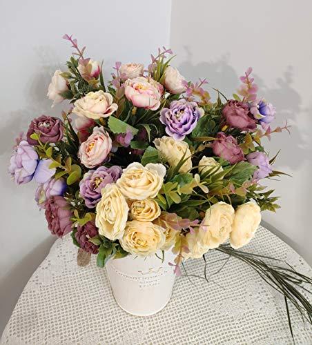 12 X 1cm Azul Oscuro Tallo De Alambre Cinta de Raso Rosas Flores De Boda Floral Manualidades