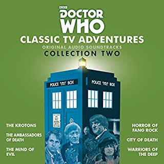 Doctor Who: Classic TV Adventures Collection Two     Six full-cast BBC TV soundtracks              By:                                                                                                                                 Robert Holmes,                                                                                        David Whitaker,                                                                                        Don Houghton                               Narrated by:                                                                                                                                 Patrick Troughton,                                                                                        Jon Pertwee,                                                                                        Tom Baker                      Length: 13 hrs and 34 mins     34 ratings     Overall 4.8