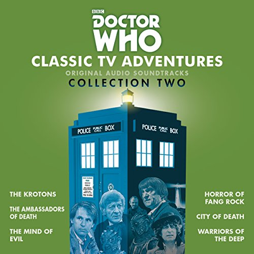 Doctor Who: Classic TV Adventures Collection Two     Six full-cast BBC TV soundtracks              By:                                                                                                                                 Robert Holmes,                                                                                        David Whitaker,                                                                                        Don Houghton                               Narrated by:                                                                                                                                 Patrick Troughton,                                                                                        Jon Pertwee,                                                                                        Tom Baker                      Length: 13 hrs and 34 mins     3 ratings     Overall 5.0
