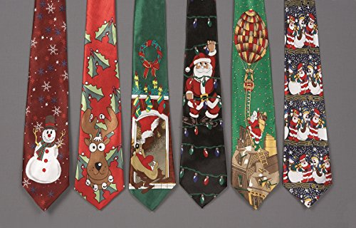 Santa & Xmas Lights Musical Christmas Tie