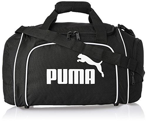 Puma borsa sportiva Team Medium, 54litri, Unisex, Tasche Team Medium, Nero-bianco-nero, 54 x 31 x 29 cm