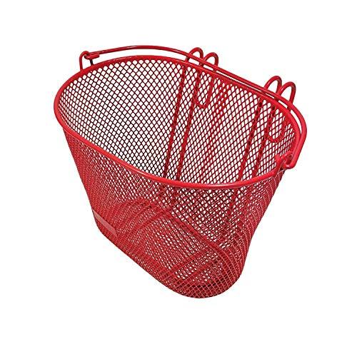 Red Loon Kinder Fahrradkorb rot Lenkerkorb Metall vorne Korb Kinder Fahrrad 20x18x10cm