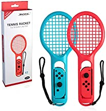 Nintendo Switch Joy-Con Controller Tennis Racket for Mario Tennis Aces, Blue & Red (2 Pack, Blue & Red)