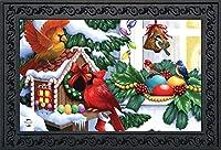 Briarwood Lane Home for The Holidays クリスマス ドアマット バードハウス 屋内 屋外 18インチ x 30インチ