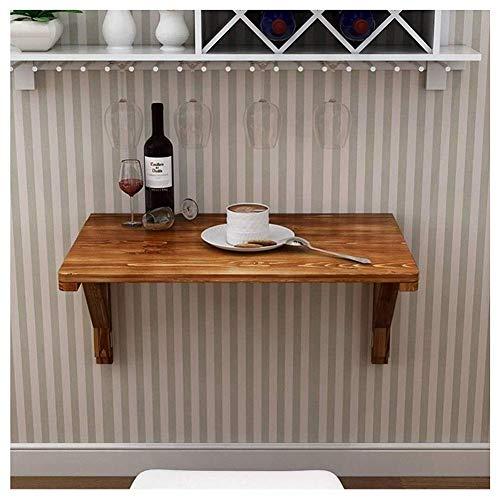 WTT klaptafel tuintafel eettafel van massief hout tegen de muur computer kantoor studetafel bureau (grootte: 80 x 60 cm)