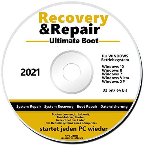 Recovery & Repair CD/DVD für Windows 10 bis XP NEU PC Reparatur Ultimate Boot