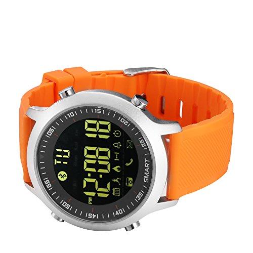 KXCD Orologi intelligenti Bluetooth fitness Tracker intelligente Orologio con pedometro cronometro per uomini donne telefoni Android iOS