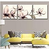wcylj 3 Piezas de Pintura de Pared Moderna combinación de Flores abstractas imágenes al óleo Impresas en Lienzo Ilustraciones Florales para la decoración de la habitación SIN MARCOS-50x90cm