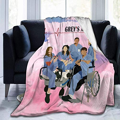 959 Custom Personalized Greys Anatomy Flannel Throw Blanket, Ultra Soft Lightweight Microfiber Fleece Blanket Perfect for Couch Sofa Bed 50'X40'