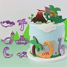 Lsnisni Jurassic Dinosaur Cookie Mold, 3D Baking mold, Fondant Cake Mold Cookie Mold set for Children's Birthday Decoratio...