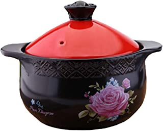 HIZLJJ Casserole Manual Clay Household Chinese Retro Multifunction Gas Soup Stone Pot Health Non-Stick Pan Cooking Utensils (Size : 1.8L)