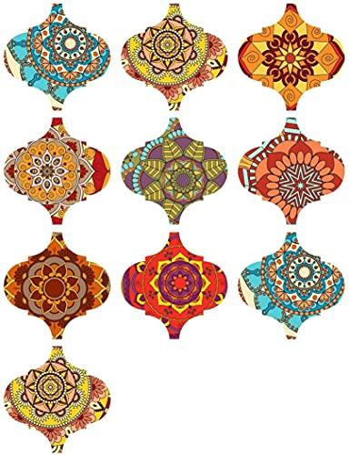 Pegatinas Creativas Para Azulejos De Pared De Baño DIY, 10 Piezas De PVC, Pegatinas Autoadhesivas Para Azulejos, Pegatinas Coloridas Impermeables Para Suelo, Película Decorativa Para Azulejos