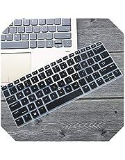 For HP X360 Elitebook 1030 G2 / 1030 G3 / 735 G5 / 830 G5 13.3 / 1020 G2 12.5インチシリコンラップトップキーボードカバープロテクタースキン-black-