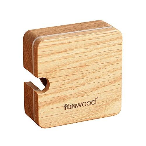 funwood(ファンウッド) マスキングテープホルダー マスキングテープケース 木製 天然木 角型 丸型 メープル サペリ mtホルダー おしゃれ文具 ナチュラル ウッド (オーク・角形・アルミライン)