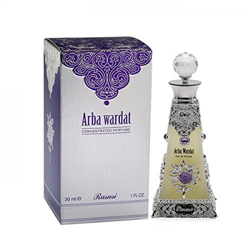 Arba Wardat for Men and Women (Unisex) CPO - Concentrated Perfume Oil (Attar) 30 ML (1.6 oz) I Intensely Captivating | Woody-ambery-mossy and musky tones | Elegant bottle | by RASASI Perfumes