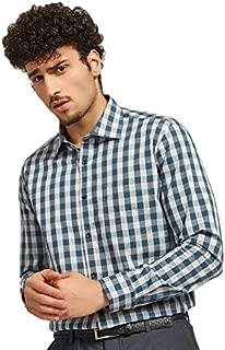 Knighthood by Fbb Slim Fit Checks Formal Shirt Blue