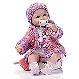 LFFDOLL Handgemachte weicher Silikon-Newborn Puppen Naturgetreue Reborn Baby Doll künstliche...