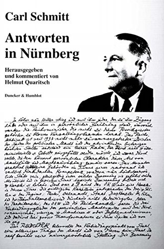 Antworten in Nürnberg.: Hrsg. und kommentiert von Helmut Quaritsch.