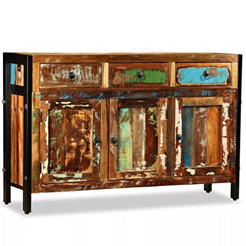 WEILANDEAL Dit dressoir van massief hout 120 x 35 x 76 cm. Dit product is zeer robuust en duurzaam. keukenkast. Modern dressoir, woonkamerkast.