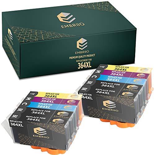 EMBRIIO 364XL 364 XL 10x Cartuchos de Tinta Reemplazo para HP Photosmart 5520 6520 5510 6510 OfficeJet 4620 Deskjet 3520 3070A Photosmart B210a B110a 5514 B109n 5515 5524 5522 6515 B209a