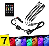 AutoBizarre 12 LED Multicolor Music Controlled Sound Activated Car Interior Atmosphere Light (works with all cars)