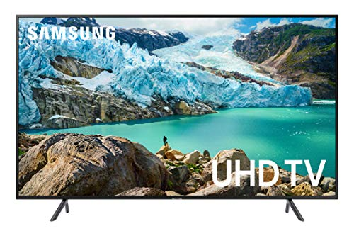 "Samsung 55"" RU7100 4K Ultra HD Smart TV (2019) (UN55RU7100FXZC) [Canada Version], Charcoal Black"