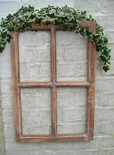 Deko-Impression Fenster Sprossenfenster Bilderrahmen Wandobjekt, Wanddekoration Holz
