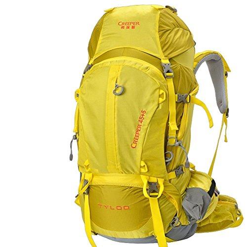 Sincere® Package / / Portable sac / sac à dos / de Voyage en plein air Sacs à dos / Ultraléger extérieure épaule d'alpinisme 50L jaune 70L