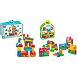 Mega Bloks First Builders Deluxe Building Bag [Amazon Exclusive] & Bloks Lets Build Sesame Street Buildable Playset