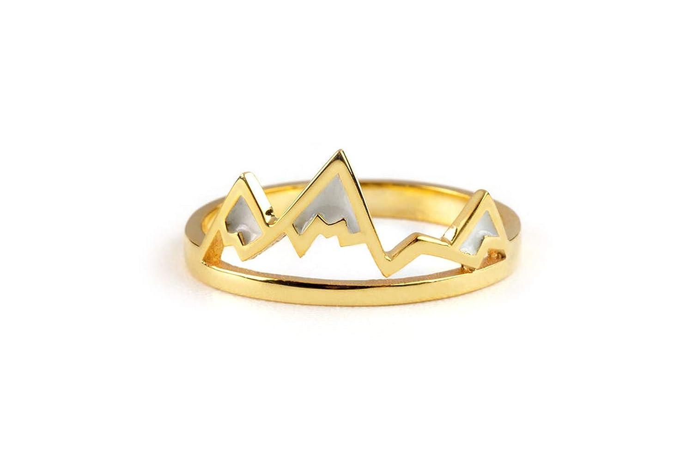 Largentolab Mountain Excellence ring 14K Gold Max 66% OFF enamel j nature golden