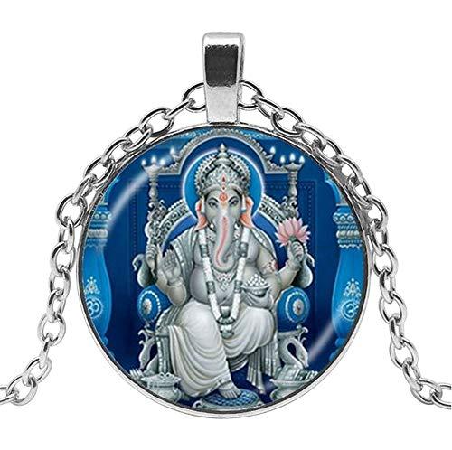 Unbekannt Halskette mit Anhänger Gott Hindou Ganesha Hälephantkopf