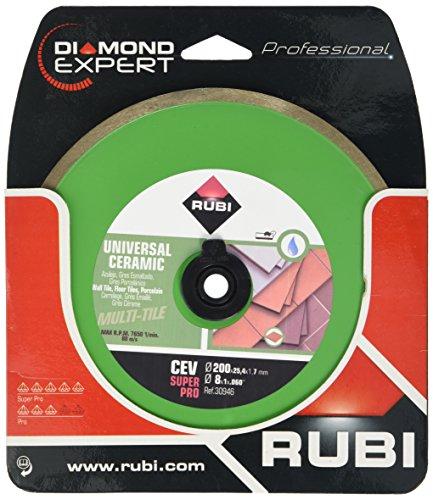 RUBI 30946 Disco Diamante general cerámica contínuo (CEV) 200 SUPERPRO, Gris, 200 mm