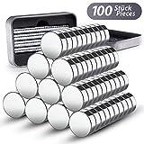 100 Mini Neodym Magnete 8 x 3 mm GRATIS Box | extra starke Mini Magnete für Whiteboard -...