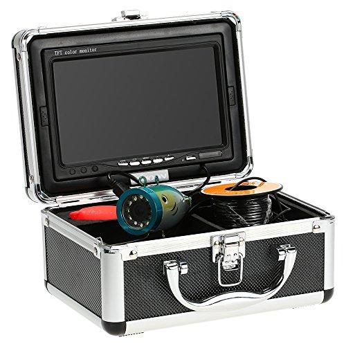 KKmoon Angelkamera Nachtsicht Fischfinder Kamera Unterwasserfischen Kamera HD 1200TVL für EIS/Sea/Fluss Angeln mit 7 Zoll LCD Monitor