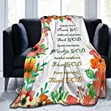 Healing Throw Blanket- Christian Prayer Caring Blanket Names of God Inspirational Soft Inspirational Blankets and Throws 40x 50 inch Throw Blankets Perfect Caring Gift for Kids Mens Womens