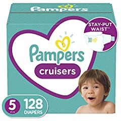Pampers Cruisers has LONG-LASTING FIT and trusted protection for the most active babies 2x STRETCHIER SIDES* for a fit that stays put vs. the leading moving baby sub-brand New and improved* DUAL LEAK-GUARD BARRIERS prevent leaks where they happen mos...