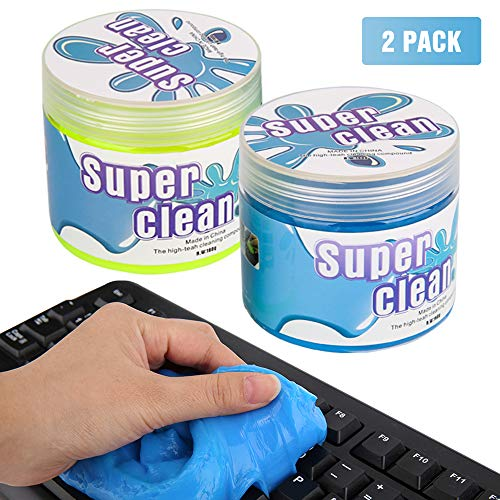 Price comparison product image MoKo Keyboard Cleaner (2 Pack,  320g),  Universal Cleaning Gel Dust Cleaner Removing Dust,  Hair,  Crumbs,  Dirt from PC Tablet Laptop Keyboard,  Calculator,  Car Vent,  Fan,  Toy