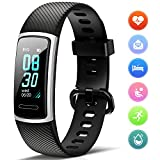 Fitness Tracker HR Activity Tracker per Battito Cardiaco, Calorie, Contapassi, Monitoraggio del...