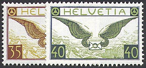 Goldhahn SchWeiß Nr. 233x-234x postfrisch  Flugpost 1929  Briefmarken für Sammler